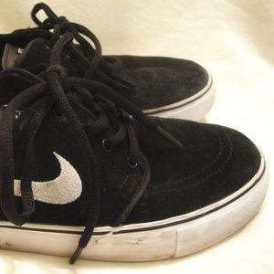 NIKE Stefan Janoski Skater Shoes Black Suede